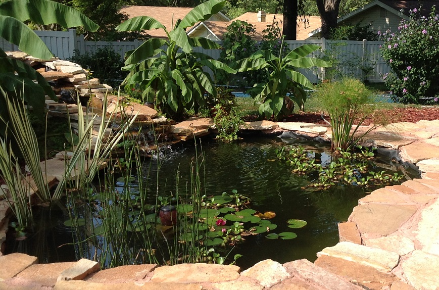 Stone for pools and fish ponds ideas from gottschalk quarry for Stone koi pond