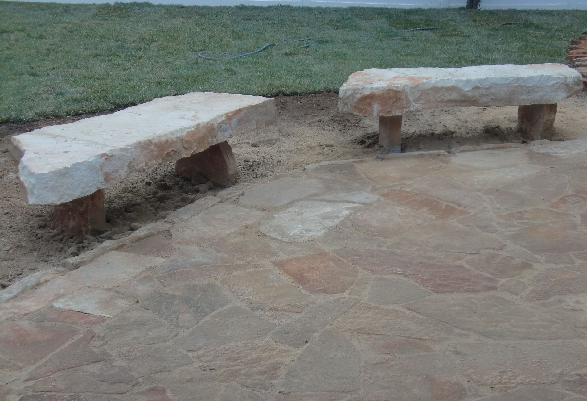 Natural Stone Slabs : Natural stone monuments slabs benches steps and boulders
