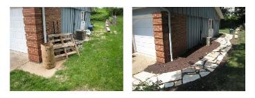 before and after - Saint Louis sandstone walkway project