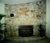 Natural Ozark Stone Fireplace - Missouri