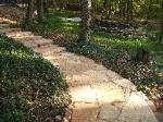 curving natural stone path