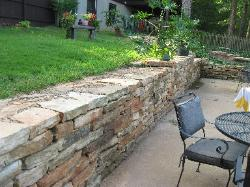 Sturdy Retaining Wall - Thick Flat Stone Dry Stack