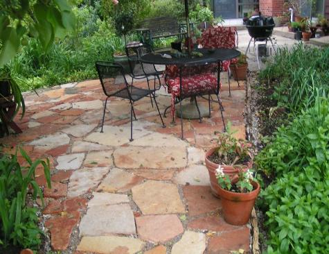 Natural Stone Patio - Ozark Sandstone Pavers - Saint Louis Missouri