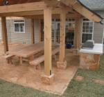 outdoor kitchen flagstone patio saint louis MO