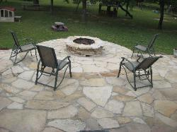 Outdoor Living Area - Firepit - Flagstone Patio, Poplar Bluff, MO