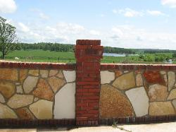 Full Veneer Ozark Giraffe Rock - Brick Trim - Pool Wall Surround - Ellsinore, MO