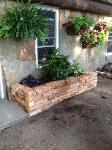 thick wall stone - flower box planter