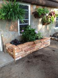 Dry Wall Natural Stone Flower Box - Peoria, IL