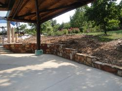 Thin Veneer sandstone retaining wall in Augusta, MO
