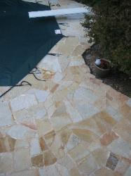 natural stone for pool decking