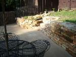 Dry Stacked Retaining Wall with Built in Steps