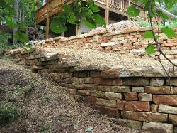 Ozark Random Wall Stone - Stacked Retaining Wall