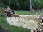 Small Stone Patio and Firepit, Missouri