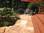 Saint Louis MO natural stone patio with fish pond