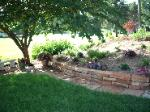 Flagstone Stepper Path and Retaining Wall - Peoria, IL