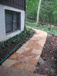 rust colored ozark sandstone stepper path