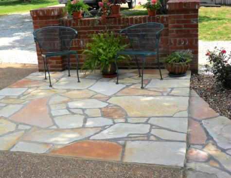 White Patio Pavers - Ozark Stone - Saint Louis, Missouri